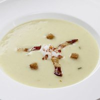 Green Squash Cream Soup cold swelling