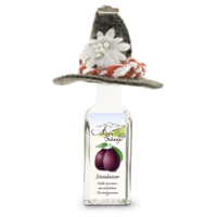 Steinbeisser Plum flavour 35% vol. with felt hat and key-ring 0,02 l