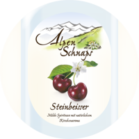 Steinbeisser Cherry flavour 35% vol. with felt hat 0,5 l