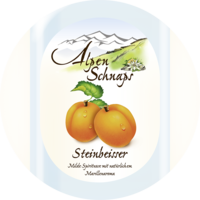 Steinbeisser Apricot flavour 35% vol. with felt hat 0,5 l
