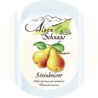 Steinbeisser Pear flavour 35% vol. with felt hat 0,5 l