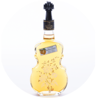 "Violin Bottle ""Anemone"" Apricot Liqueur 20% vol. 0,5 l"
