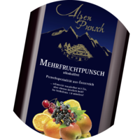 Fruit Punch Syrup 1:8 without alcohol 1 litre and 10 litres