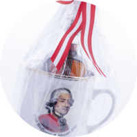 "Violone Mug ""Mozart""  with Violin 0,1 l"