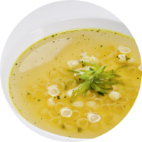 Clear vegetable broth with fine herbs
