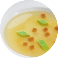 Oxbouillon with vegetables without visible components