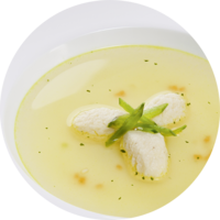 Fine soup cup clear chicken bouillon