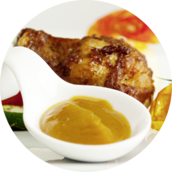 Curry-Mango ready-to-serve dip sauce