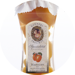 Apricots with Apricot Brandy 16% vol 0,35 kg glass