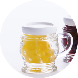 Small Jug with Apricots in Apricot Schnapps  18% vol. 0,02 l