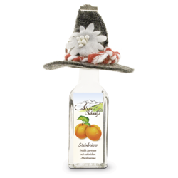 Steinbeisser Apricot flavour 35% vol. with felt hat and key-ring 0,02 l