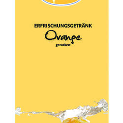 Orange Soft drink concentrate 1:9