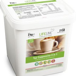 Lifeline Cappuccino enriched 3 in 1 decaffeinated