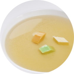 Beef broth without visible components