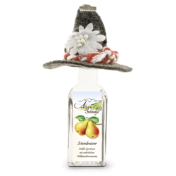 Steinbeisser Pear flavour 35% vol. with felt hat and key-ring 0,02 l