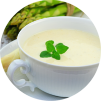 Asparagus Cream Soup enriched