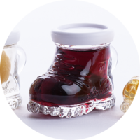 Mountain Boots with Raspberries in Raspberry Liqueur 18% vol. 0,02 l
