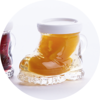 Mountain Boots with Apricots in Apricot Liqueur  18% vol. 0,02 l