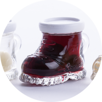 Mountain Boot with Sour Cherries in Whisky  18% vol. 0,02 l