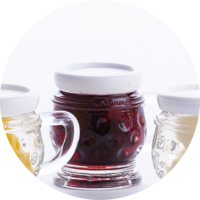 Small jug Raspberries in Raspberry Liqueur  18% vol. 0,02 l