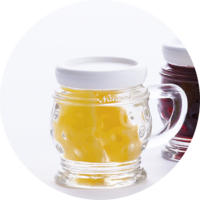 Small Jug with Apricots in Apricot Brandy  18% vol. 0,02 l