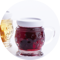 Small Jug with Sour Cherries in Whisky 18% vol. 0,02 l