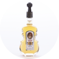 "Geigenflasche ""Sissi"" Vermouth Orange-Liqueur 16% Vol. 0,1 L"
