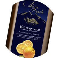 Hüttenpunsch Orange Spirit 35% vol. Syrup 1+3 1 litre or 10 litres