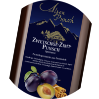 Plum Cinnamon Hot Punsch 32% vol. Syrup 1+3 - 1 litre or 10 litres