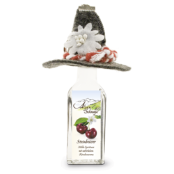 Steinbeisser Cherry flavour 35% vol. with felt hat and key-ring 0,02 l