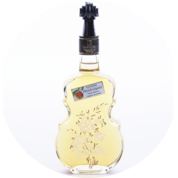 "Violin Bottle ""Anemone"" Peach Liqueur 20% vol. 0,5 l"